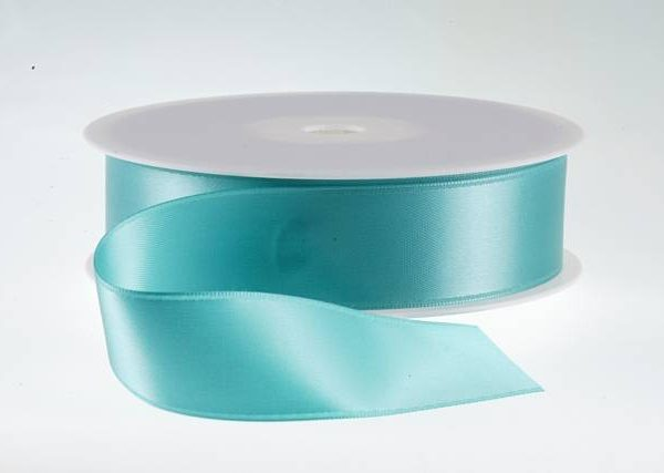 ( Col. 74 ) Aqua Double Faced Satin