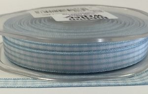 Baby Blue Gingham Ribbon