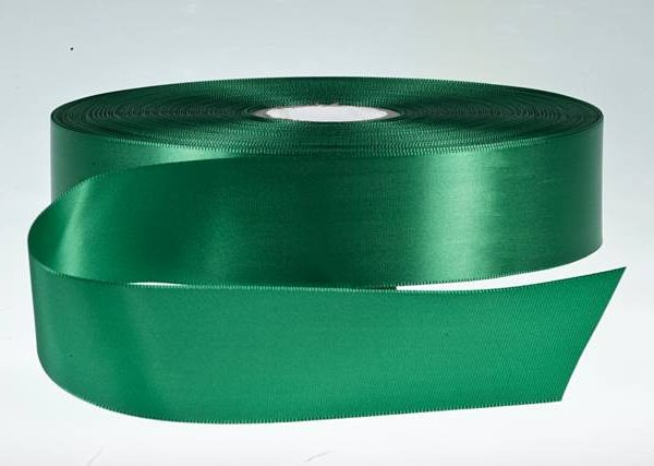 Emerald Single Faced Satin