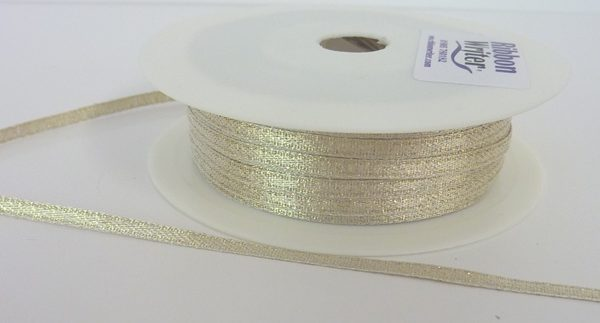 Gold Lurex Wrapping Ribbon 3mm x 50m