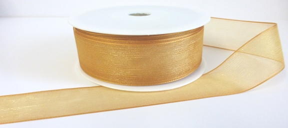 Gold Organza Ribbon