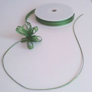 Green Satin Edge Pull Bow Ribbon 10mm x 25m