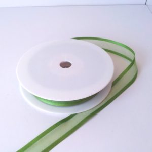 Kiwi Satin Edge Organza Ribbon 15mm x 20m