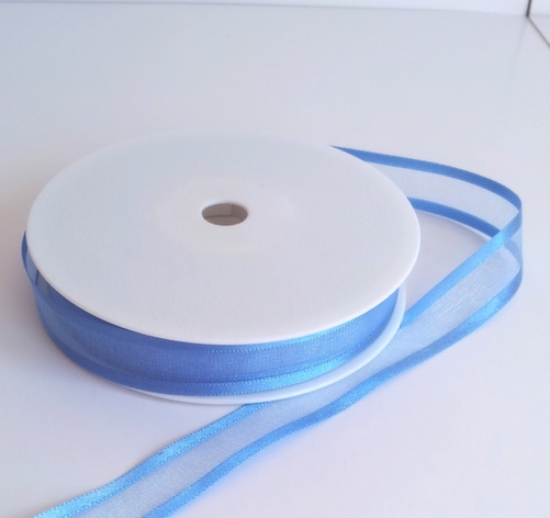 Larkspur Satin Edge Organza Ribbon 15mm x 20m