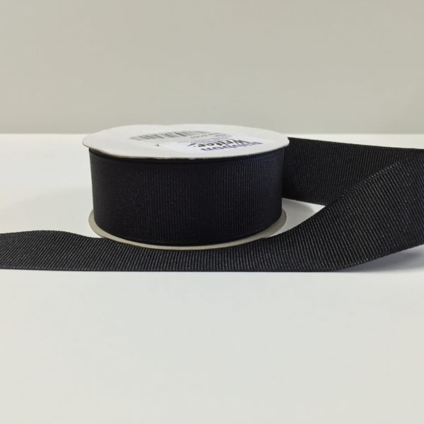 Luxury Black Grosgrain Ribbon (10m)