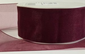 Luxury Claret Organza Ribbon