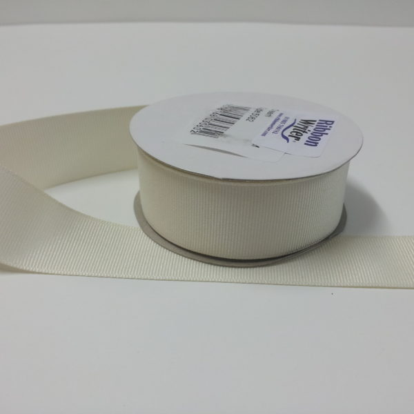 Luxury Cream Grosgrain Ribbon (10m)