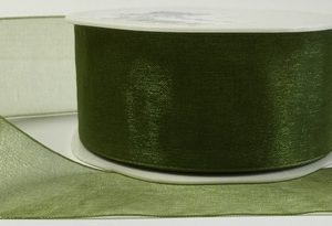 Luxury Olive Organza Ribbon