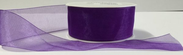 Luxury Purple Organza Ribbon