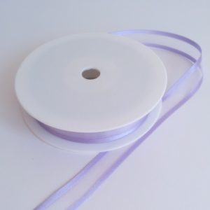 Mauve Satin Edge Organza Ribbon 15mm x 20m