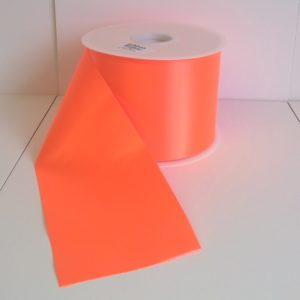 Neon Orange Fiesta Ribbon 100mm x 50m