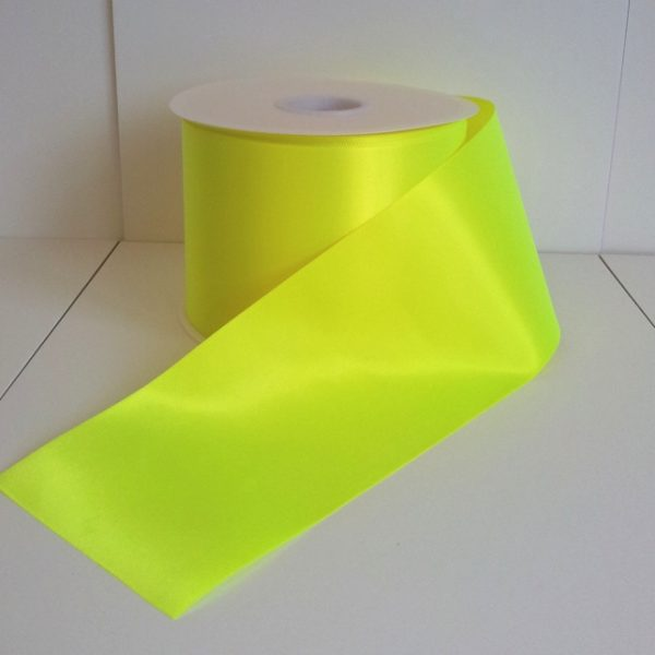 Neon Yellow Fiesta Ribbon 100mm x 50m