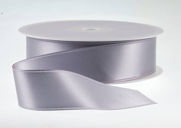 ( Col. 85 ) Pewter Double Faced Satin