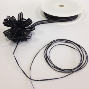 Black Satin Edge Pull Bow Ribbon 10mm x 25m