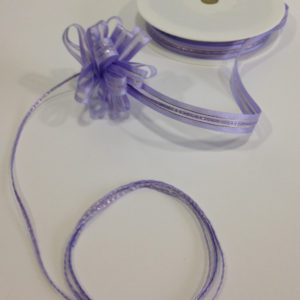 Mauve Satin Edge Pull Bow Ribbon 10mm x 25m