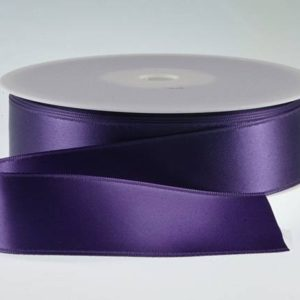 ( Col. 48 ) Purple Double Faced Satin