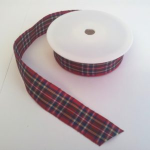 Royal Stewart Polyester Tartan 25mm x 25m