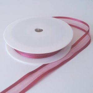 Strawberry Satin Edge Organza Ribbon 15mm x 20m