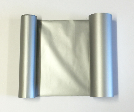 Transfer Foil Matt Silver 110mm x 50m