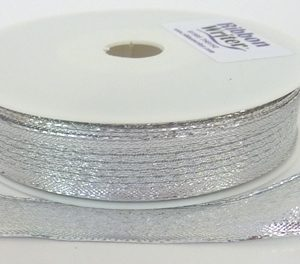 Wire Edge Shiny Silver/silver border 15mm x 20m