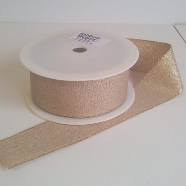 Gold Lurex Ribbon Designer Edge 24mm x 20m