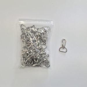 Silver Metal Japen Hook for 20mm Lanyard x 50