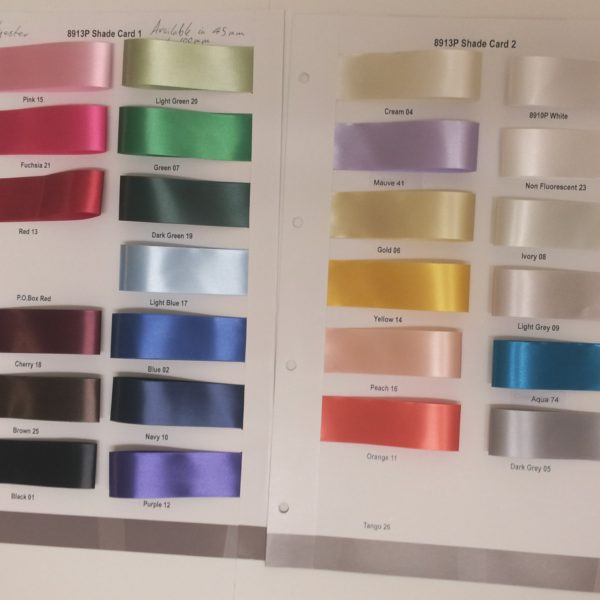 Polyester Colour Chart
